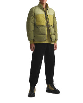 Compass-badge panelled jacket