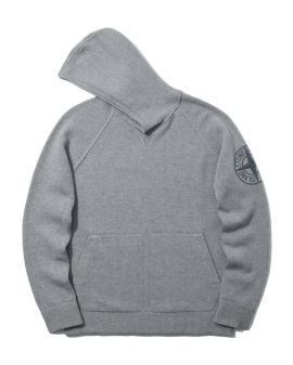 Logo knitted hoodie