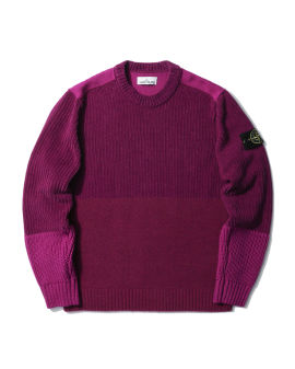 Mixed yarn crew neck sweater