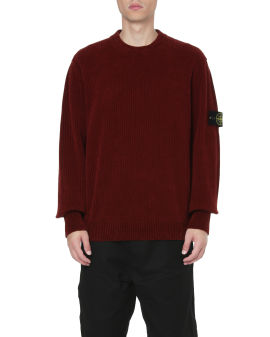 Ribbed compass patch sweater