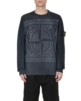 Laser print compass sweater