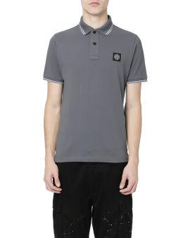 Logo patch polo shirt