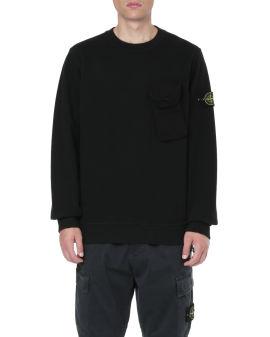 Flap pocket sweatshirt