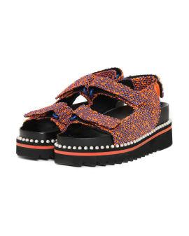 Royal Faux pearl platform sandals