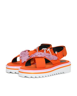 Floral slingback sandals