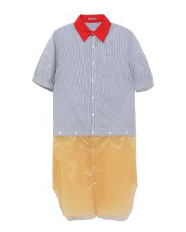 Contrast hem shirt dress