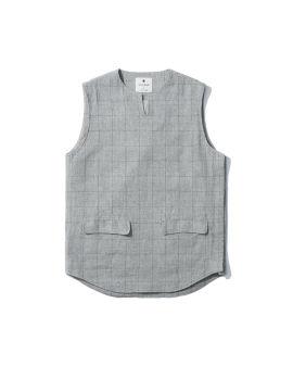Check tweed vest