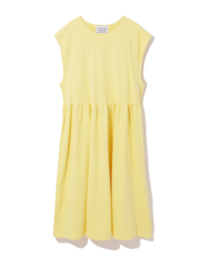 Cap sleeve pouf dress