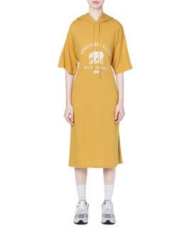 Hooded printed dress