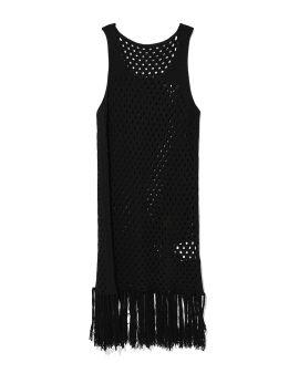 Fringed knit dress