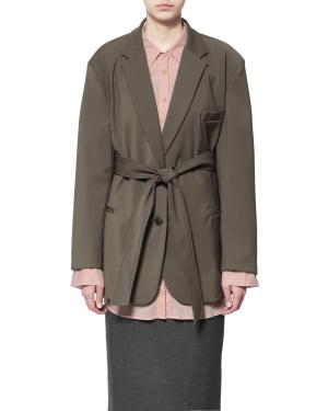 Tie waist oversized blazer
