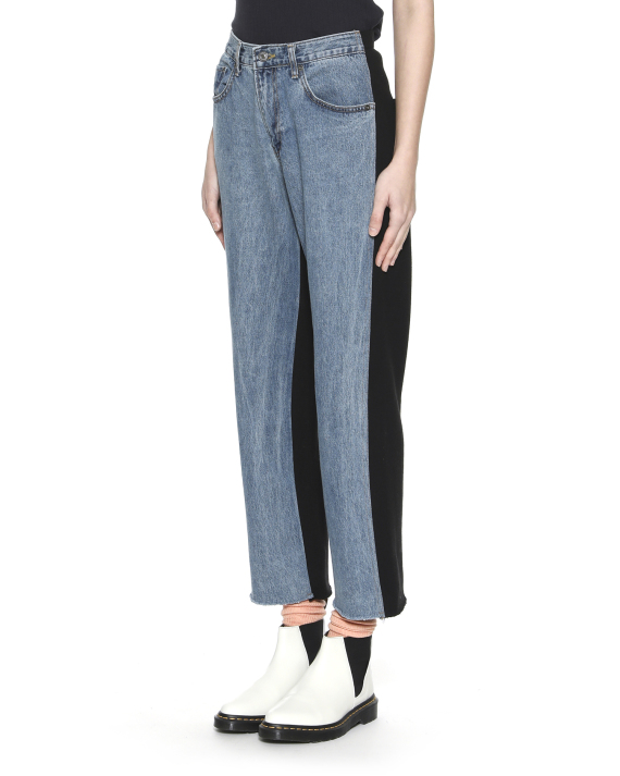 f6d54375361 STYLENANDA Two-tone frayed jeans