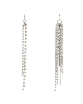 Asymmetric chain drop earrings