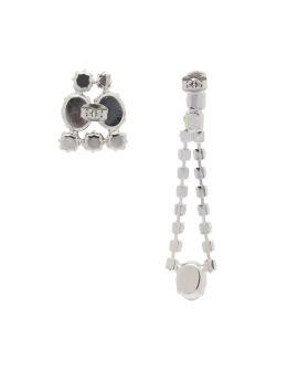 Asymmetric drop earrings