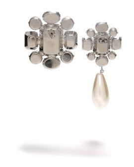 Asymmetric Strass earrings