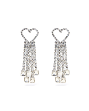 Heart tassel earrings
