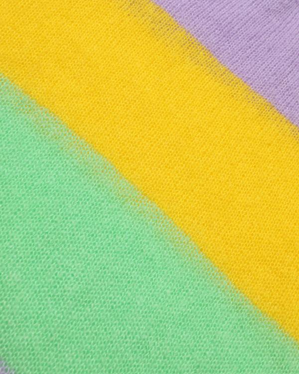 Rainbow stripe v-neck sweater