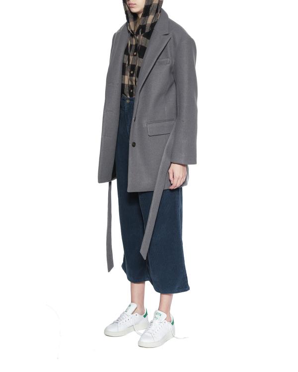 Waist tie oversized blazer