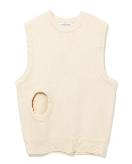 Cut-out knit vest