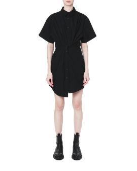 Twisted shirt dress