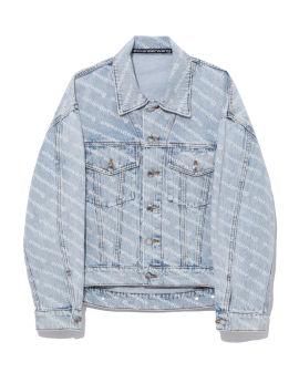 Falling back logo denim jacket