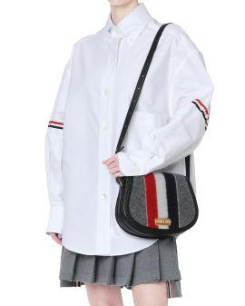 Wool blend shoulder bag