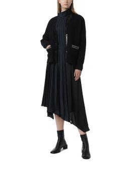 Stripe accented cardigan