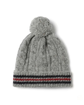 Baby cable knit beanie