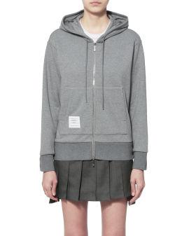 Taped zip hoodie