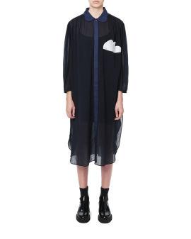 Cloud shirt dress