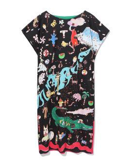 Printed graphic dress