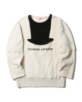 Panelled sweater mini dress