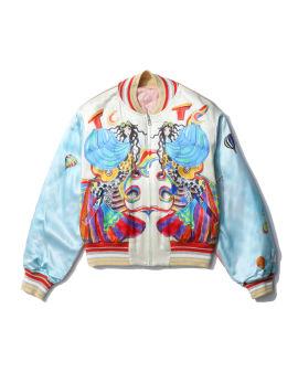 Graphic bomber jacket