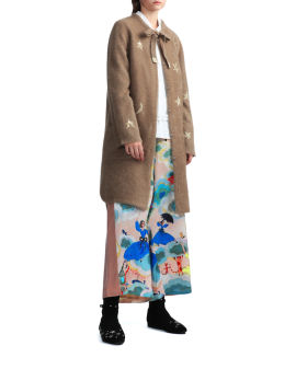 Wide leg panelled pants