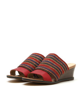 Slip-on tweed sandals