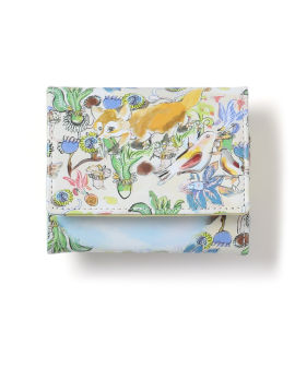 Graphic print trifold wallet