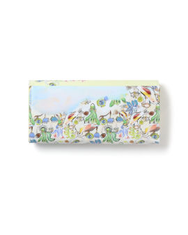 Graphic print long wallet