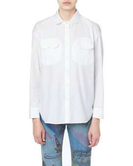 Relaxed patch pocket shirt