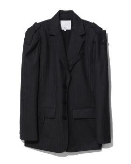 Detached pinstriped blazer