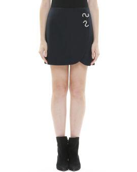 Metallic embellished mini skirt