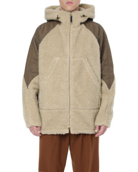 Faux boa hoodie