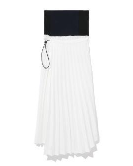 Panelled asymmetrical skirt