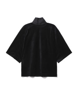 Panelled high neck top