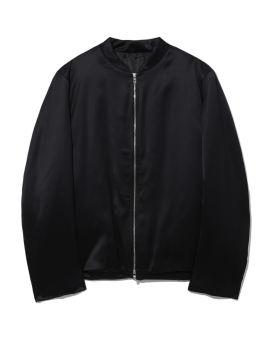 Satin track bomber jacket