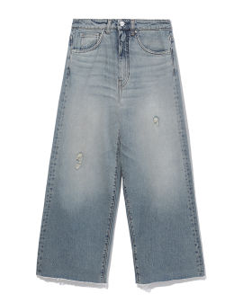 Bleached straight fit jeans