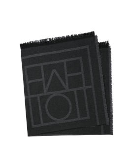 Wool-cashmere blend scarf