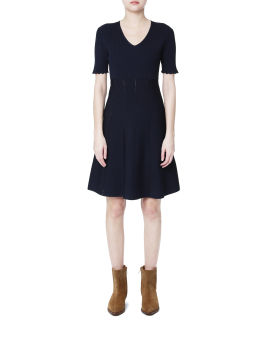 A-line ribbed dress