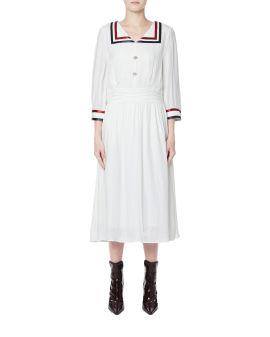 Striped collar dress