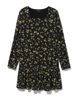 All-over floral pattern dress