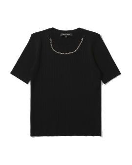 Chain knit top